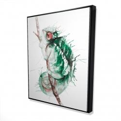 Framed 48 x 60 - 3D - Watercolor chameleon