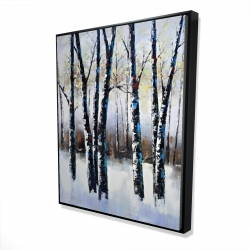 Framed 48 x 60 - 3D - Frosted trees