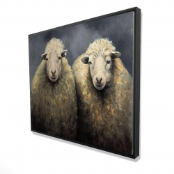 Framed 48 x 60 - 3D - Wool sheeps