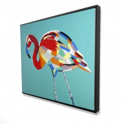 Framed 48 x 60 - 3D - Abstract flamingo