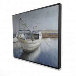 Framed 48 x 60 - 3D - Blue fishing boat