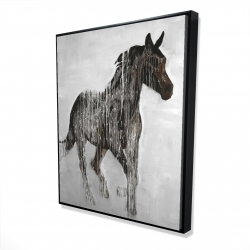 Framed 48 x 60 - 3D - Abstract brown horse