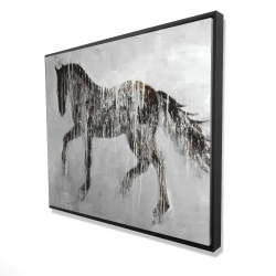 Framed 48 x 60 - 3D - Horse brown silhouette