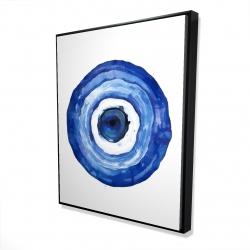 Framed 48 x 60 - 3D - Erbulus blue evil eye