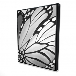 Framed 48 x 60 - 3D - Monarch wings closeup