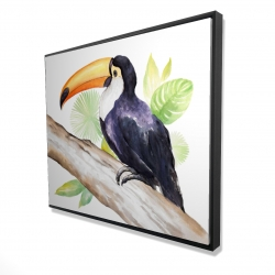 Framed 48 x 60 - 3D - Toucan perched