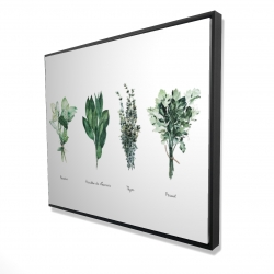 Framed 48 x 60 - 3D - Fines herbes