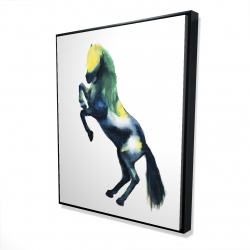 Framed 48 x 60 - 3D - Greeting horse