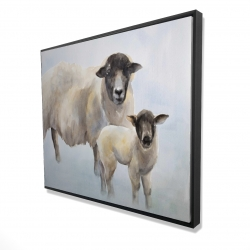 Framed 48 x 60 - 3D - Sheep and its baby