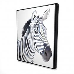 Framed 48 x 60 - 3D - Watercolor zebra