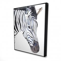 Framed 48 x 60 - 3D - Zebra