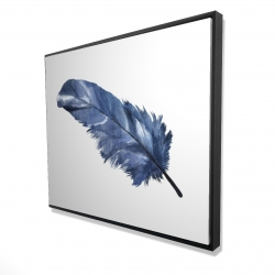 Framed 48 x 60 - 3D - Blue feather