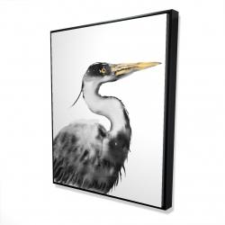 Framed 48 x 60 - 3D - Great heron