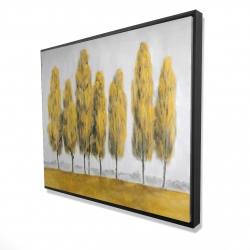 Framed 48 x 60 - 3D - Abstract yellow trees