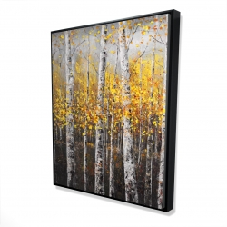 Framed 48 x 60 - 3D - Sunny birch trees