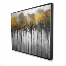 Framed 48 x 60 - 3D - Abstract yellow forest