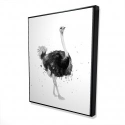 Framed 48 x 60 - 3D - Proud ostrich