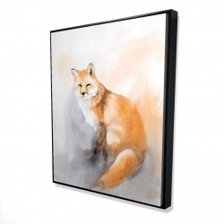 Framed 48 x 60 - 3D - Watercolor fox