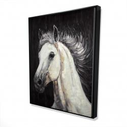 Framed 48 x 60 - 3D - White star horse