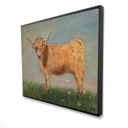 Framed 48 x 60 - 3D - Daisy the highland cow