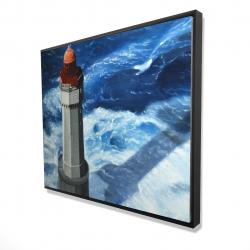 Framed 48 x 60 - 3D - The headlight of jument