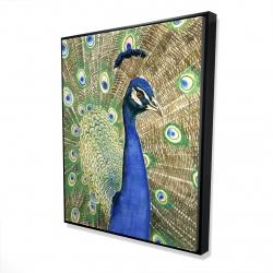 Framed 48 x 60 - 3D - Peacock