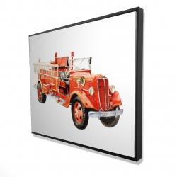 Framed 48 x 60 - 3D - Vintage fire truck