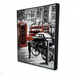 Framed 48 x 60 - 3D - European street