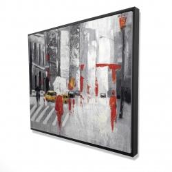 Framed 48 x 60 - 3D - Abstract cloudy city street