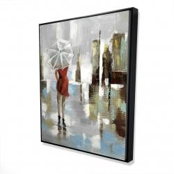 Framed 48 x 60 - 3D - Red dress woman