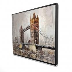 Framed 48 x 60 - 3D - London tower bridge