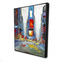 Framed 48 x 60 - 3D - Abstract and colorful buildings