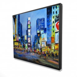 Framed 48 x 60 - 3D - Cityscape in times square