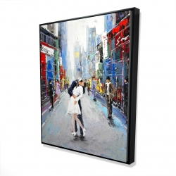 Framed 48 x 60 - 3D - Kiss of times square
