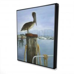Framed 48 x 60 - 3D - Pelican