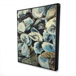 Framed 48 x 60 - 3D - Oyster shells