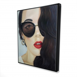 Framed 48 x 60 - 3D - Fashionable sunglasses