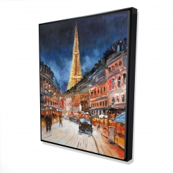 Framed 48 x 60 - 3D - Illuminated paris