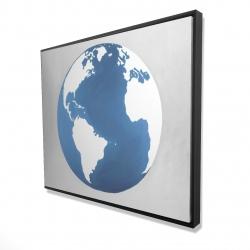 Framed 48 x 60 - 3D - The earth
