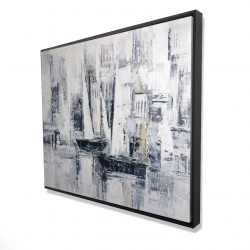 Framed 48 x 60 - 3D - Industrial style sailboats