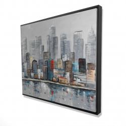 Framed 48 x 60 - 3D - Abstract city skyline