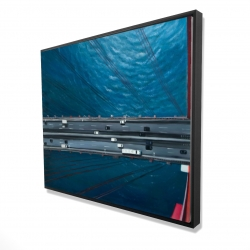Framed 48 x 60 - 3D - Overhead view of traffic on the golden gate