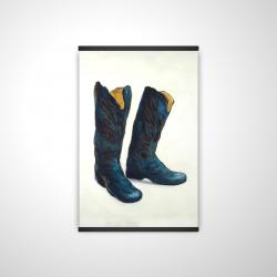 Magnetic 20 x 30 - 3D - Leather cowboy boots