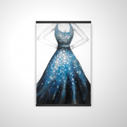 Magnetic 20 x 30 - 3D - Blue princess dress