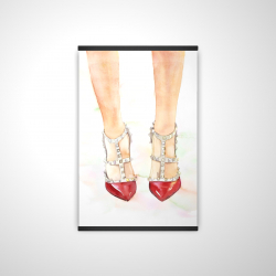 Magnetic 20 x 30 - 3D - Red studded high heels
