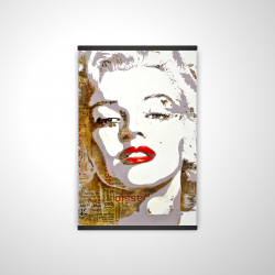 Magnetic 20 x 30 - 3D - Marilyn monroe with typography