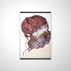 Magnetic 20 x 30 - 3D - Woman from behind with flowers