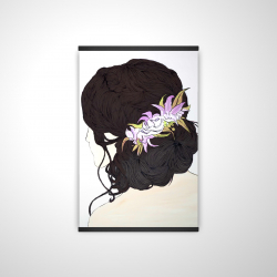 Magnetic 20 x 30 - 3D - Woman from behind with pink flowers