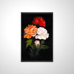 Magnetic 20 x 30 - 3D - Three beautiful rose flowers
