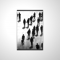 Magnetic 20 x 30 - 3D - Silhouettes of people on the street